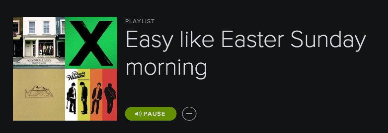 Playlist  – Easy Like Easter Sunday Morning