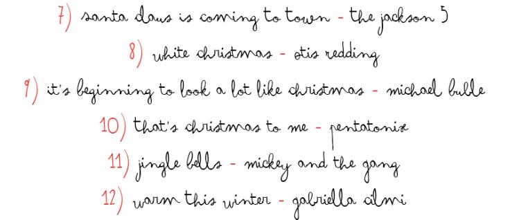 christmas playlist pt.2
