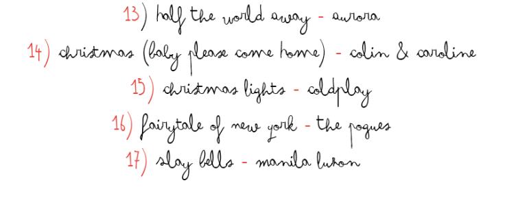 christmas playlist pt.3